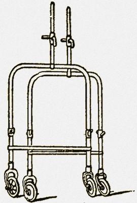 Фото: Приспособление для транспортировки кровати в виде двух пар ножек
