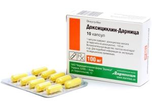 Антибиотик от прыщей Доксициклин