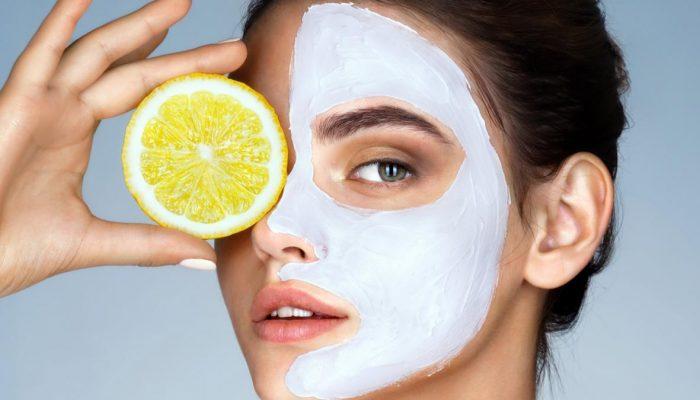 Отбеливающая маска с лимоном