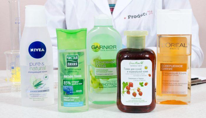Средства для тонизирования кожи лица
