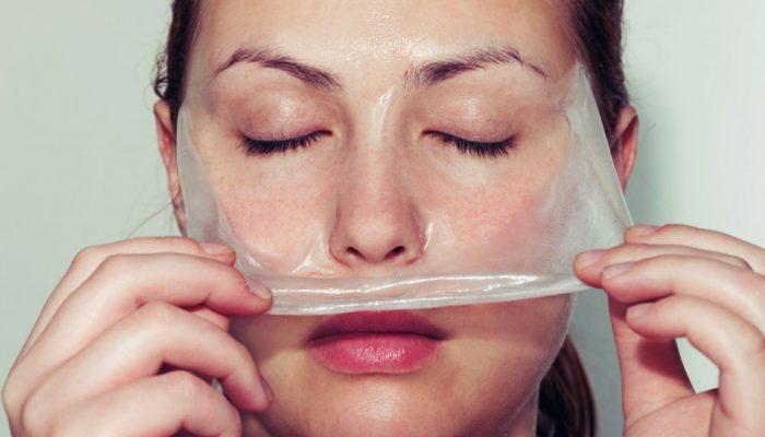 Подтягивающая маска для лица с желатином