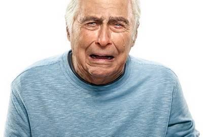 Насильственный плач при псевдобульбарном синдроме у пожилых