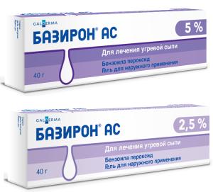 Средства от прыщей с антибиотиками: Базирон