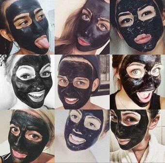 как правильно наносить черную маску от угрей