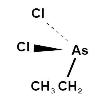 Структурная формула этилдихлорарсина