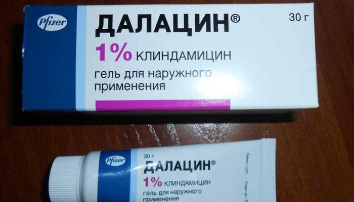 Далацин Т гель от прыщей: инструкция по применению