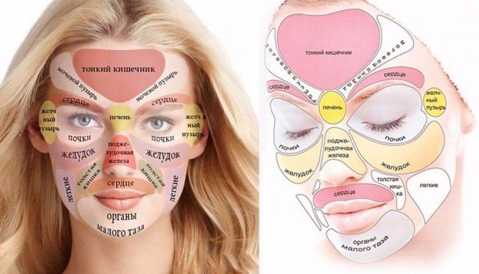 За какие органы отвечают прыщи на лице ? Расположение высыпаний на лице и болезни