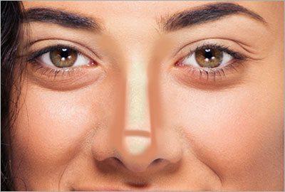 Как сделать нос меньше или визуально тоньше с помощью макияжа