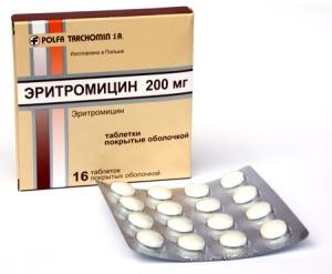 антибиотик эритромицин от прыщей