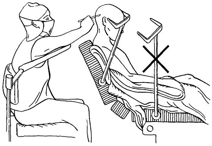 Положение больного сидя