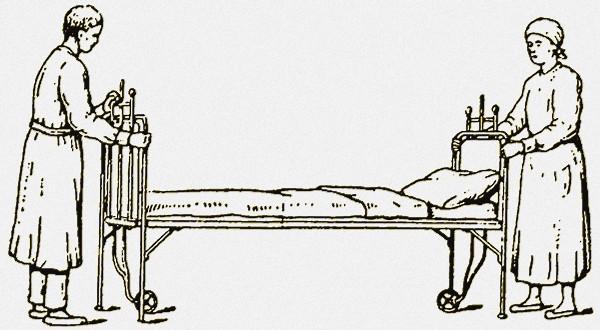 Фото захватывания крючками верхних краев кровати