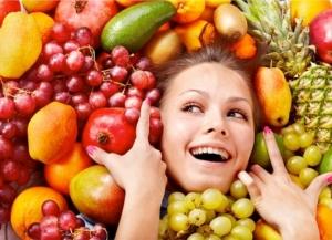 Желатиновая маска с фруктами