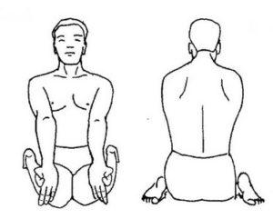 Йога при артрите: поза вирасана